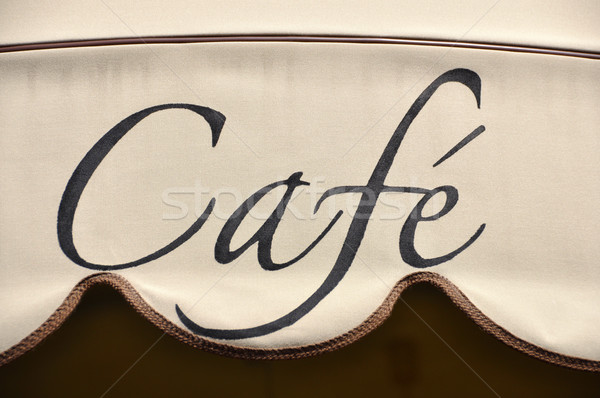 Cafe awning Stock photo © dutourdumonde