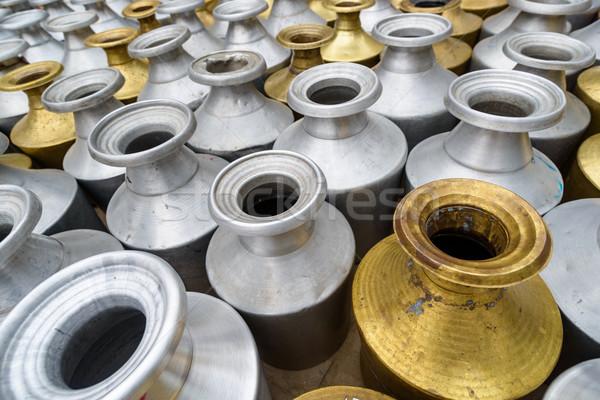Fém Nepál szállít víz gyár minta Stock fotó © dutourdumonde
