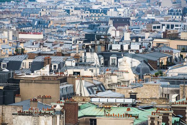 Paris rooftops Stock photo © dutourdumonde