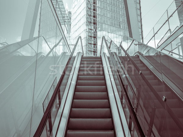 Scala mobile moderno quartiere outdoor ufficio costruzione Foto d'archivio © dutourdumonde