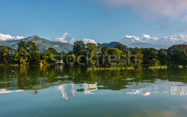 Fewa Lake and the Annapurna range in Pokhara Stock photo © dutourdumonde