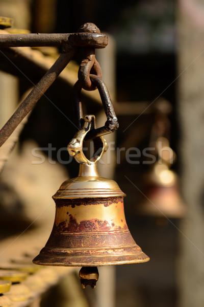 çan budist tapınak Metal ibadet Asya Stok fotoğraf © dutourdumonde