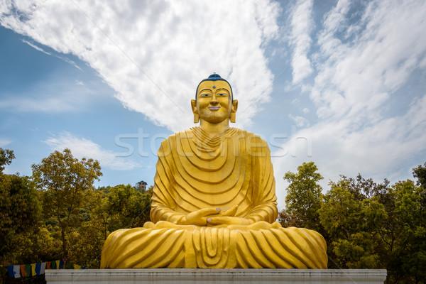 Buda heykel Nepal sanat seyahat ibadet Stok fotoğraf © dutourdumonde
