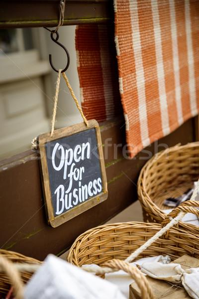 オープン ビジネス にログイン ヴィンテージ 見える ショップ ストックフォト © dutourdumonde