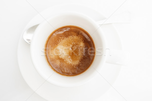 Top view of espresso coffee Stock photo © dutourdumonde
