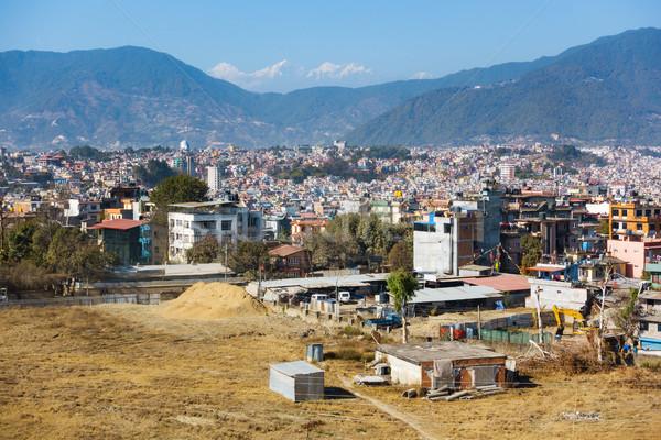 Ciudad Nepal punto colinas montanas edificio Foto stock © dutourdumonde