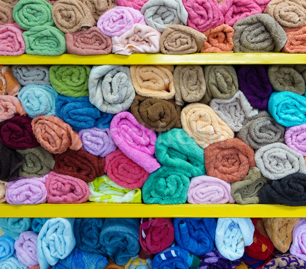 Colorful rolled towels Stock photo © dutourdumonde
