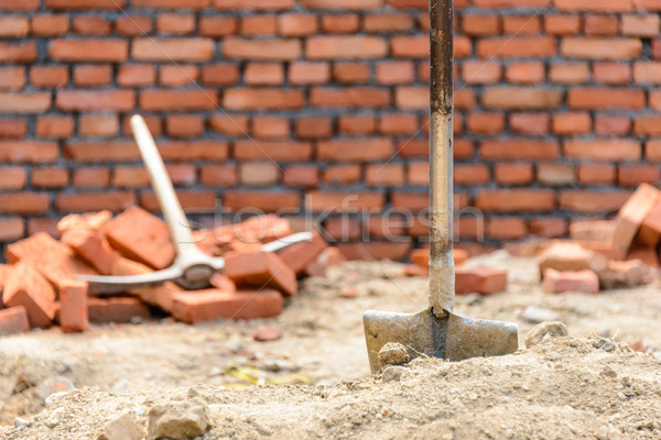 Shovel and pickaxe on a construction site Stock photo © dutourdumonde