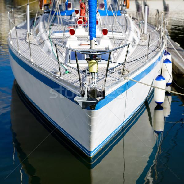 White sailing boat Stock photo © dutourdumonde