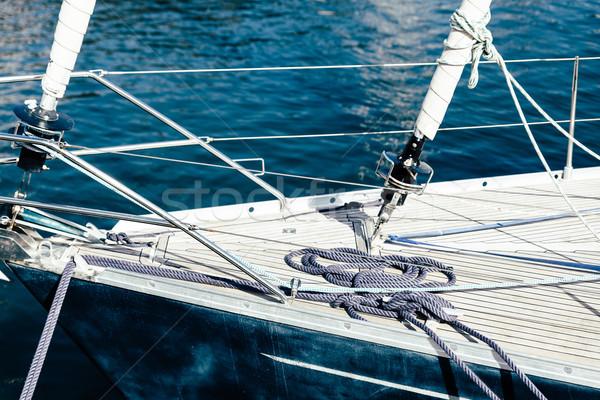 подробность лодка парусного морем лет синий Сток-фото © dutourdumonde