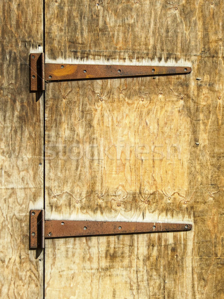 Paslı eski ahşap kapı iki ahşap Stok fotoğraf © dutourdumonde