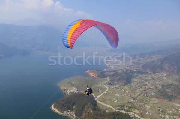 Tandem Nepal gökyüzü spor yeşil Stok fotoğraf © dutourdumonde