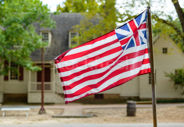 Grand Union Flag in Williamsburg, VA Stock photo © dutourdumonde