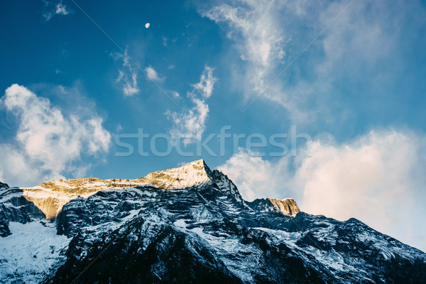 Kondge Ri mountain in Nepal Stock photo © dutourdumonde
