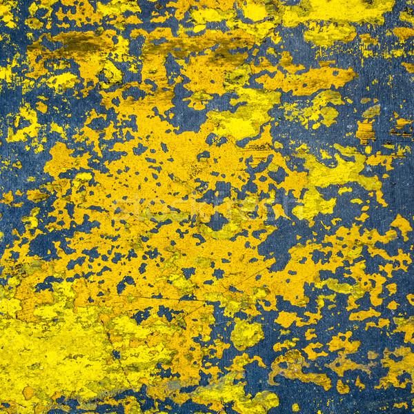 Geel geschilderd cement vloer textuur Stockfoto © dutourdumonde