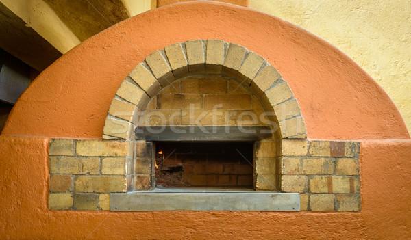 木材 火災 ピザ オーブン レストラン ストックフォト © dutourdumonde