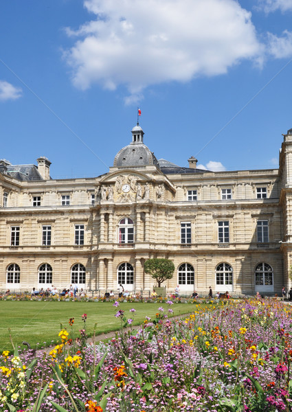 フランス語 上院 パリ フランス 花 春 ストックフォト © dutourdumonde