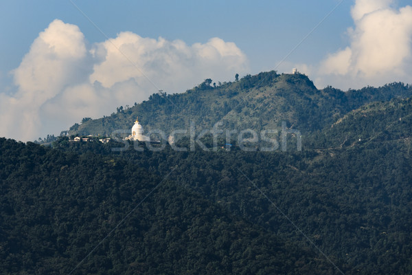 The World Peace Pagoda in Pokhara Stock photo © dutourdumonde