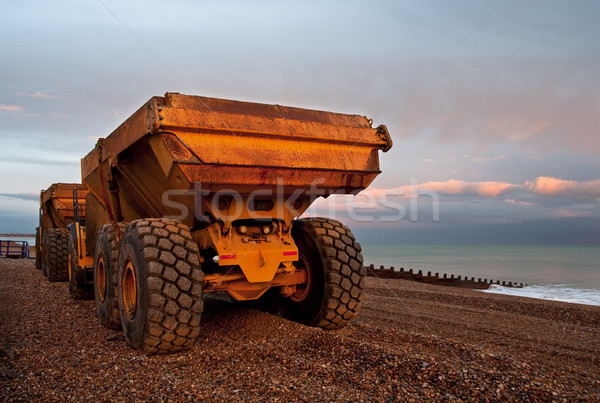 Two lorries on a pebble beach Stock photo © dutourdumonde