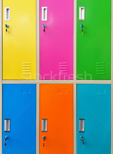 Colourful lockers Stock photo © dutourdumonde