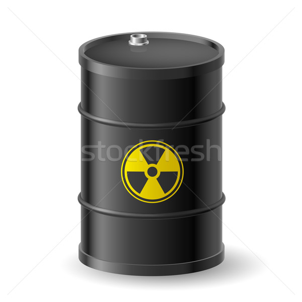 放射性 バレル 黒 警告 ラベル 背景 ストックフォト © dvarg