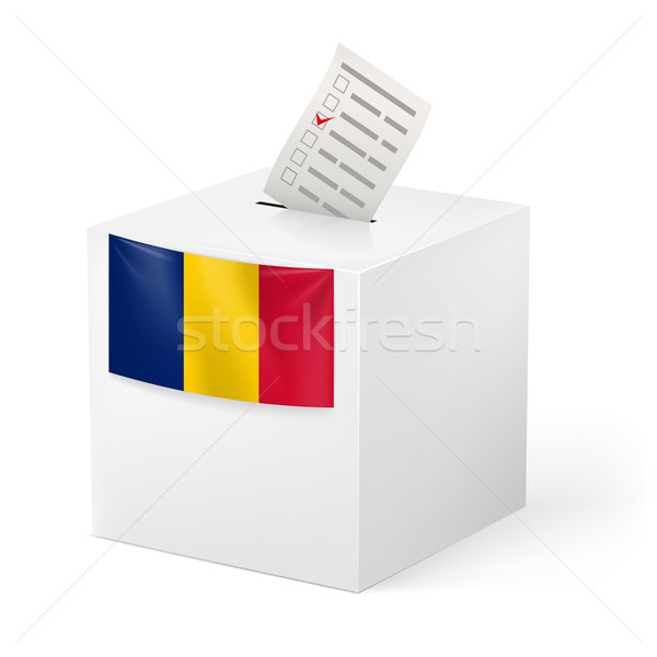 Ballot box with voting paper. Romania Stock photo © dvarg