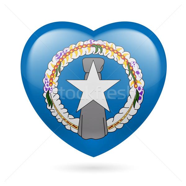 Heart icon of Northern Mariana Islands Stock photo © dvarg