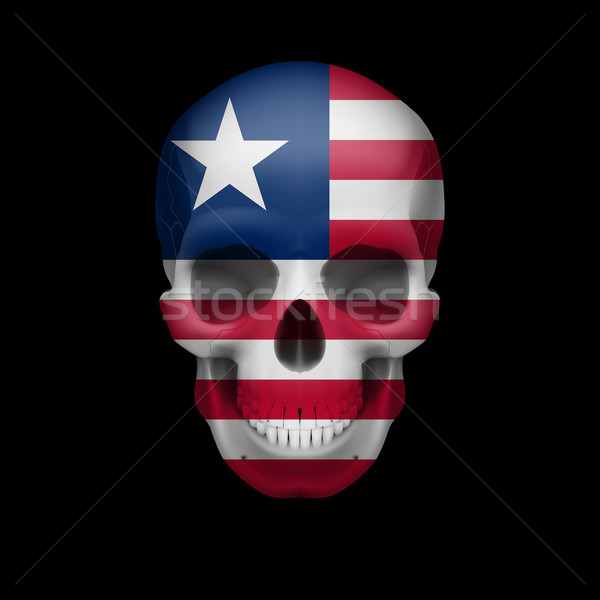 Liberian flag skull Stock photo © dvarg