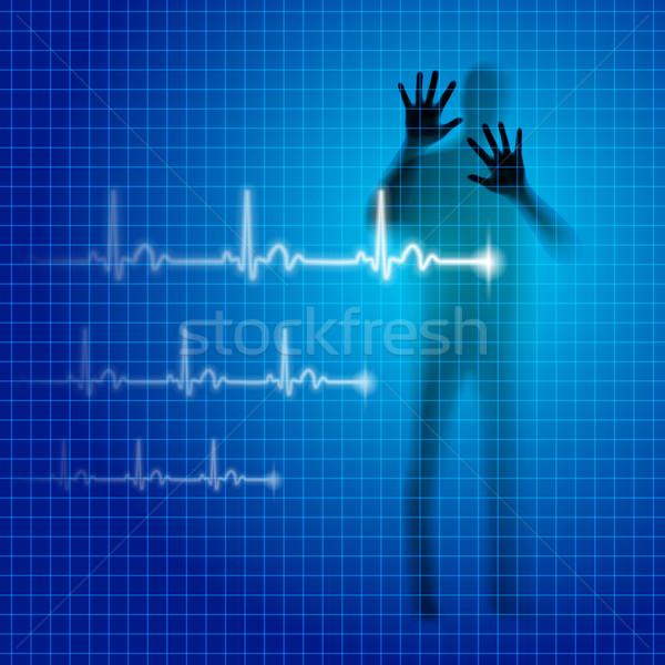 Tıbbi insan siluet Stok fotoğraf © dvarg