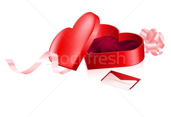 Red box in heart shape Stock photo © dvarg