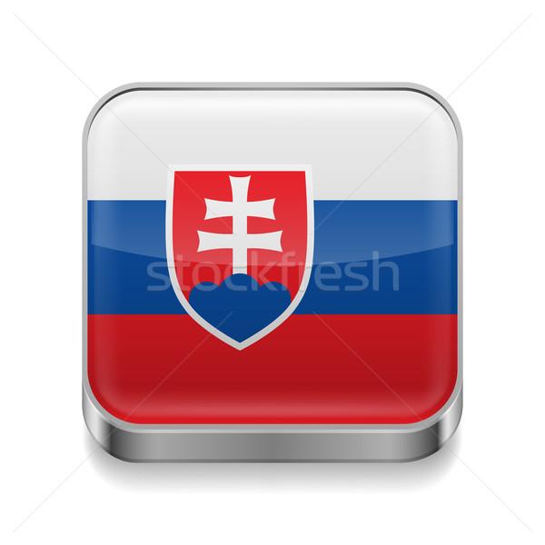 Metal  icon of Slovakia Stock photo © dvarg