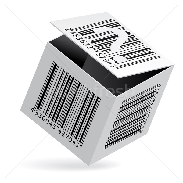 Bar code on box Stock photo © dvarg