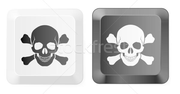 頭蓋骨 キー 黒白 ボタン 実例 デザイン ストックフォト © dvarg
