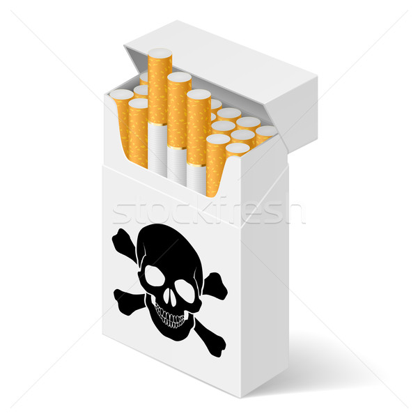 White Pack of cigarettes  Stock photo © dvarg