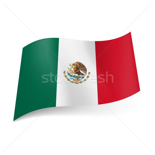 Banderą Meksyk zielone biały czerwony pionowy Zdjęcia stock © dvarg