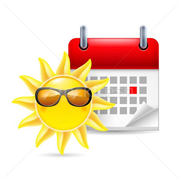 Sun and calendar Stock photo © dvarg