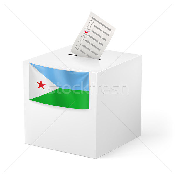 Ballot box with voting paper. Djibouti Stock photo © dvarg