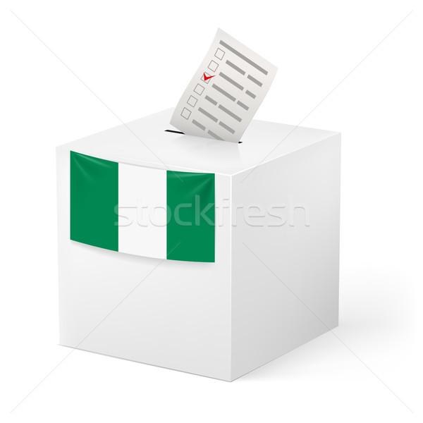 Ballot box with voting paper. Nigeria Stock photo © dvarg