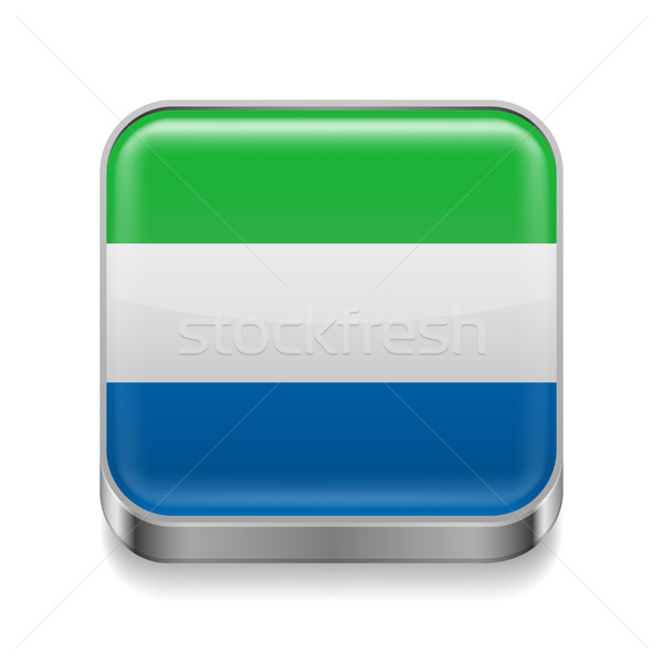 Metal  icon of Sierra Leone Stock photo © dvarg