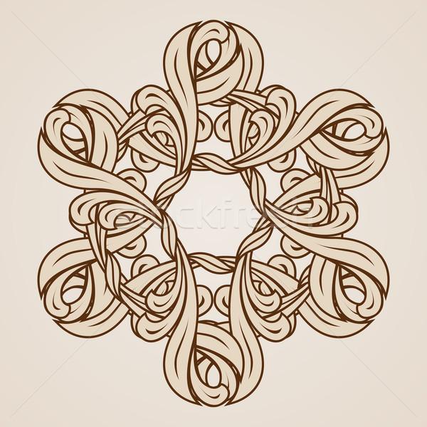Kwiatowy wzór dekoracyjny ilustracja świetle Zdjęcia stock © dvarg