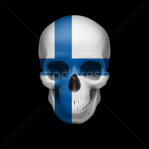 Finnish flag skull Stock photo © dvarg
