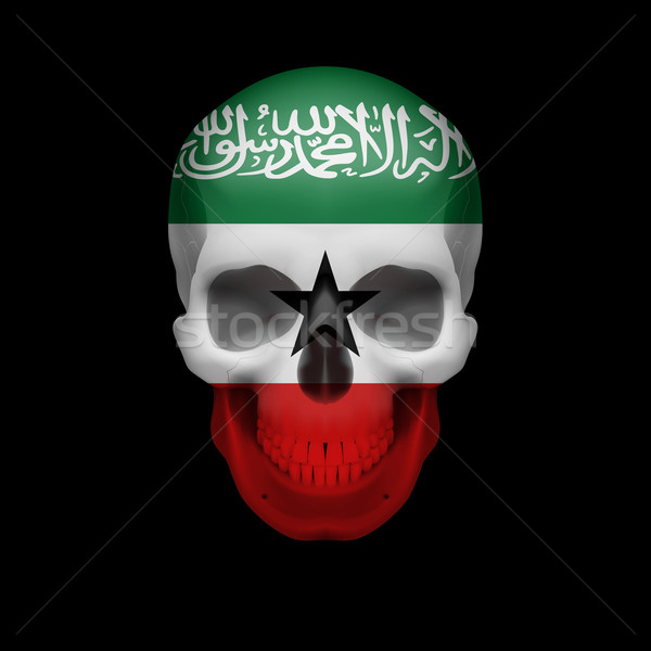 Somaliland flag skull Stock photo © dvarg