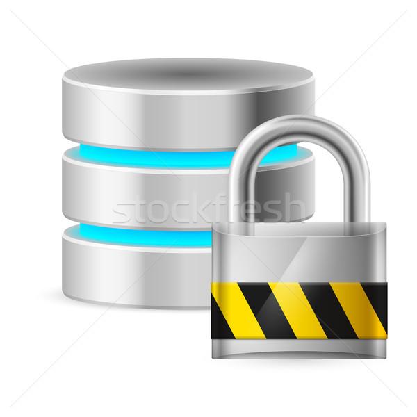 Veritabanı ikon bilgisayar örnek beyaz Stok fotoğraf © dvarg