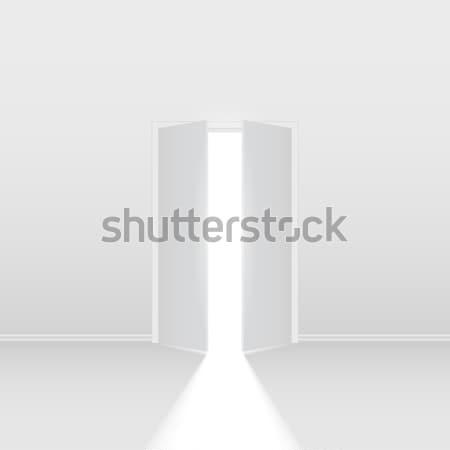 Double open door Stock photo © dvarg