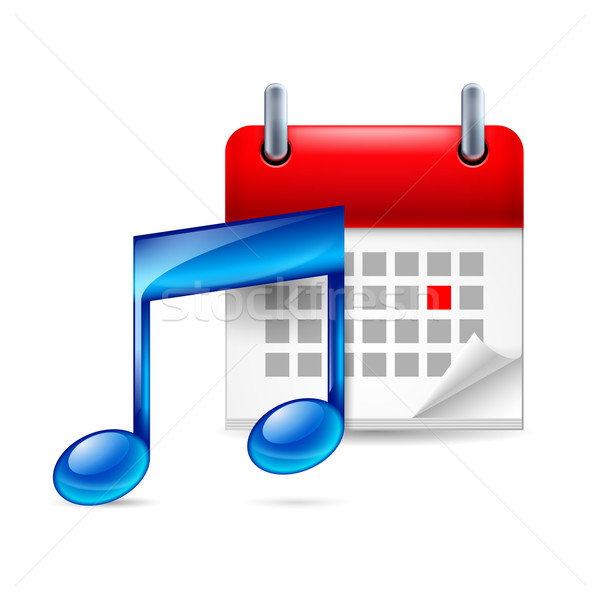 Music note and calendar Stock photo © dvarg