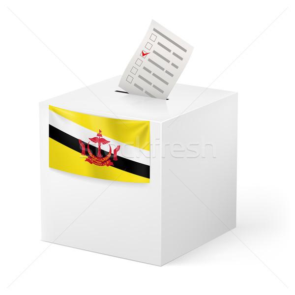 Stemmen vak papier Brunei verkiezing Stockfoto © dvarg