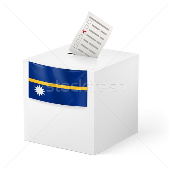 Cédula caixa votação papel Nauru eleição Foto stock © dvarg
