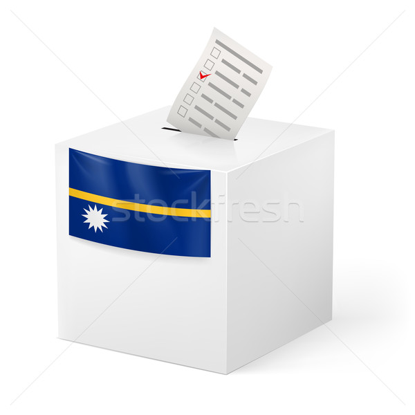Ballot box with voting paper. Nauru Stock photo © dvarg