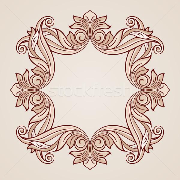 Stock photo: Rose pink floral pattern