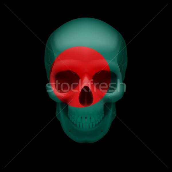 Bandeira crânio humanismo Bangladesh ameaça segurança Foto stock © dvarg